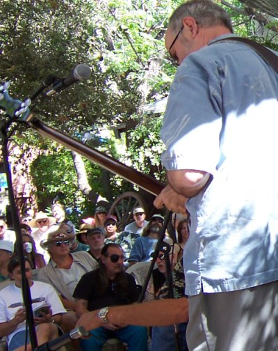 Jim's view of the audience at the Tucson Folk Festival